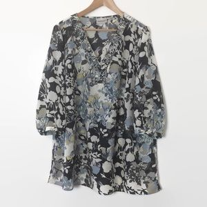 Avenue Floral Top/Blouse Plus 22/24 3/4 Sleeves